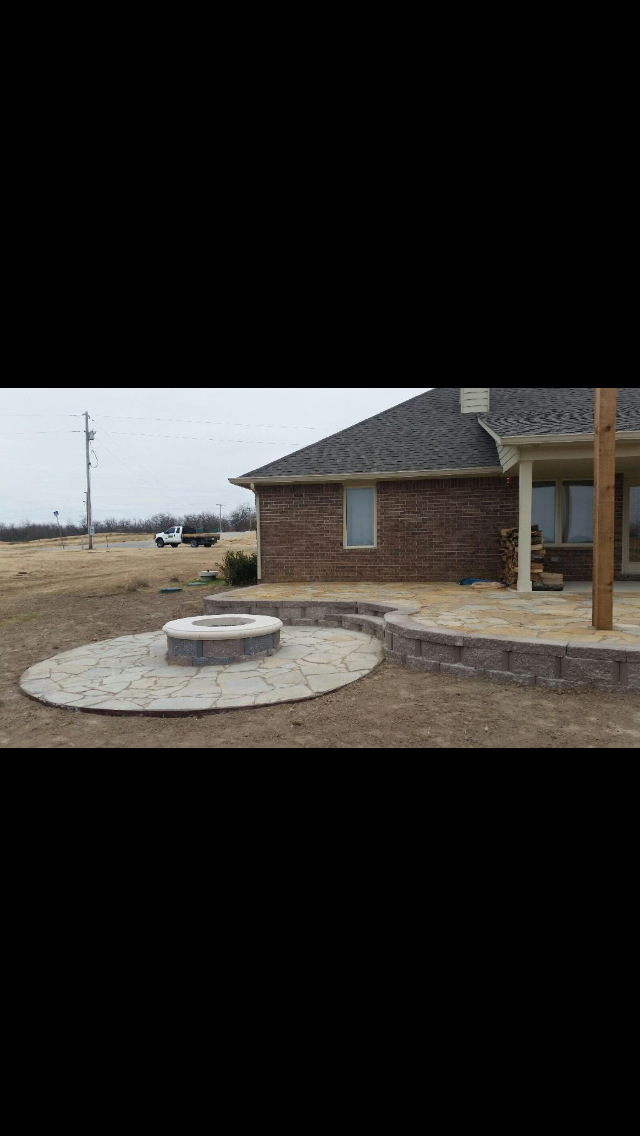 Landscaping Stones Joplin Mo : Fire pits by r d lawn care and landscaping